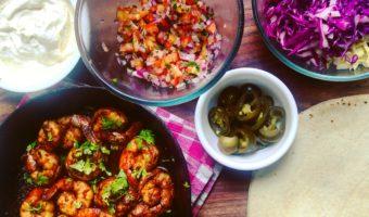 Soft Shell Tacos with Cajun Shrimp