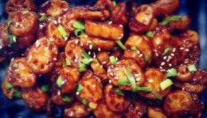 Crispy Lotus Stem in Honey Chili Sauce