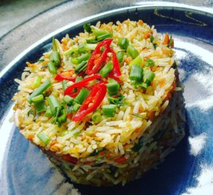 Chili Garlic Fried Rice