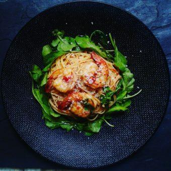 Shrimp & Arugula Pasta