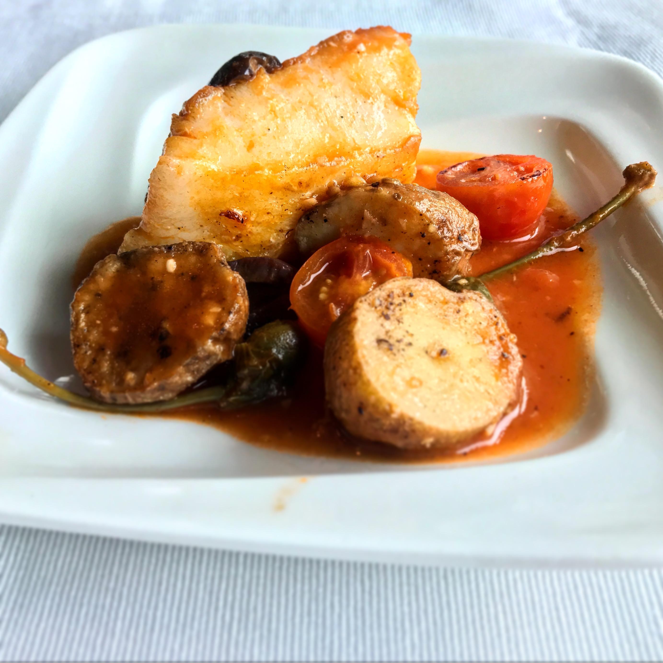 Zanotta - Pan Fried Seabass with Sweet Tomato sauce