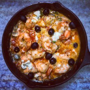 One Pot Greek Baked Shrimp