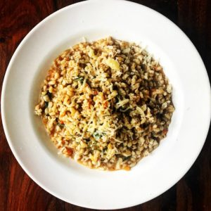 Barley Risotto with Spinach and Tomato